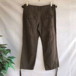 Sundance Pants - Sundance Cropped Pants Linen Cotton Brown Capri